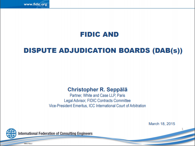 What to expect from your FIDIC dispute adjudication board members