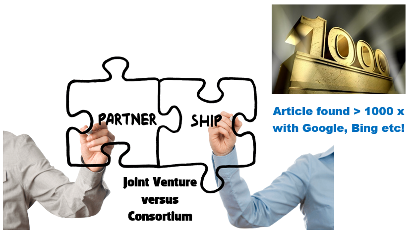 Consortium or Joint Venture : the same or very different?