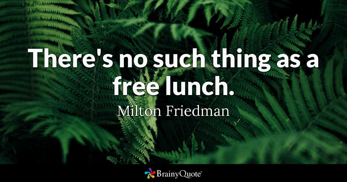 No free lunch in negotiation