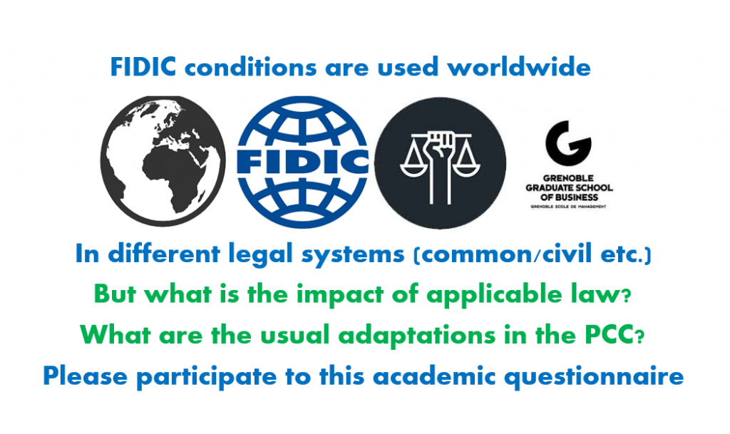 Questionnaire on FIDIC in legal systems