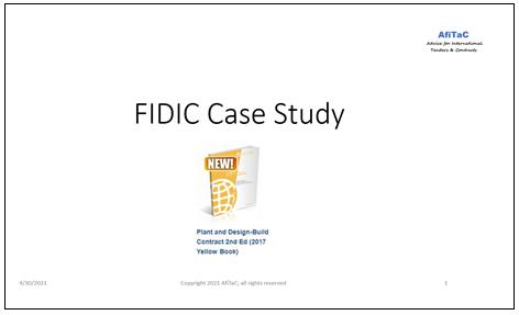 casestudies over FIDIC